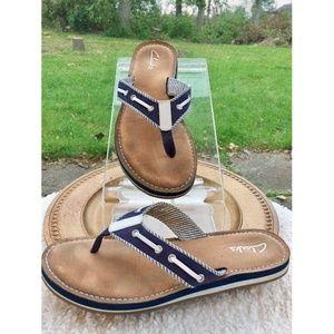 Clarks Women's Thong Flip Flop Sandals Size 8